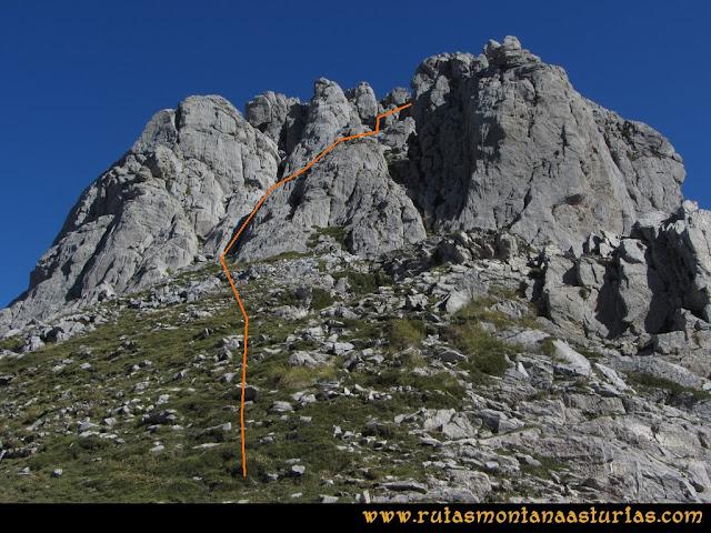 Ruta Ercina, Verdilluenga, Punta Gregoriana, Cabrones: Trepada a la Verdilluenga