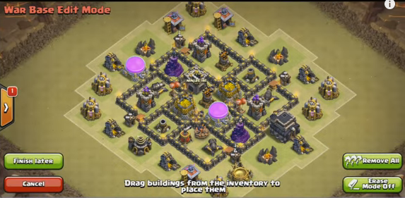 Th6, War Base Layout with 2 Air defense
