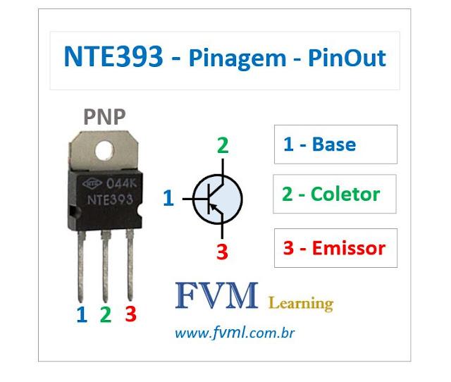 Pinagem - Pinout - Transistor - PNP - NTE393 - Características