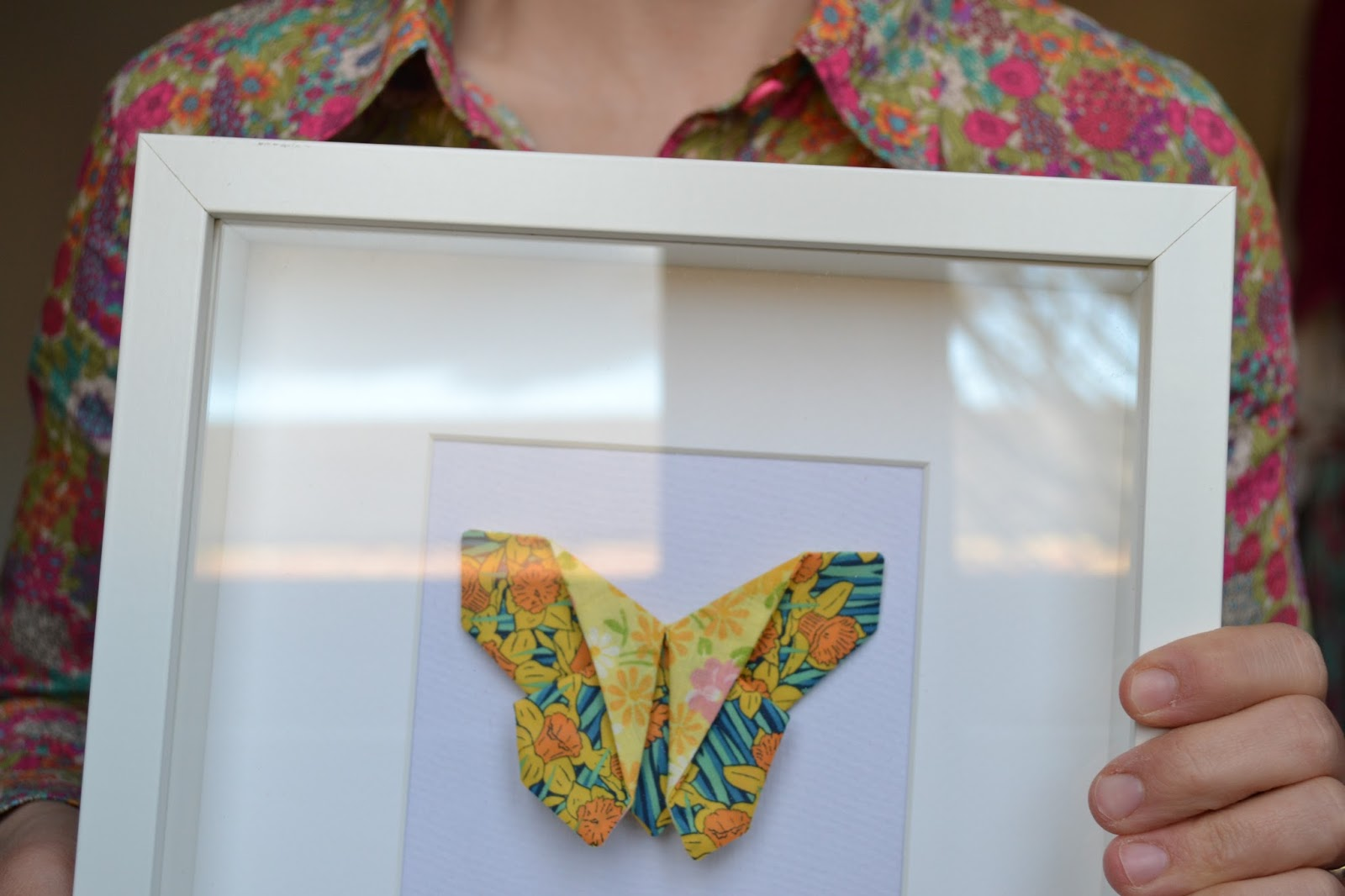 kitchen table sewing origami butterfly for mother 39 s day