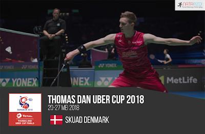 Pemain Denmark di Thomas dan Uber Cup 2018