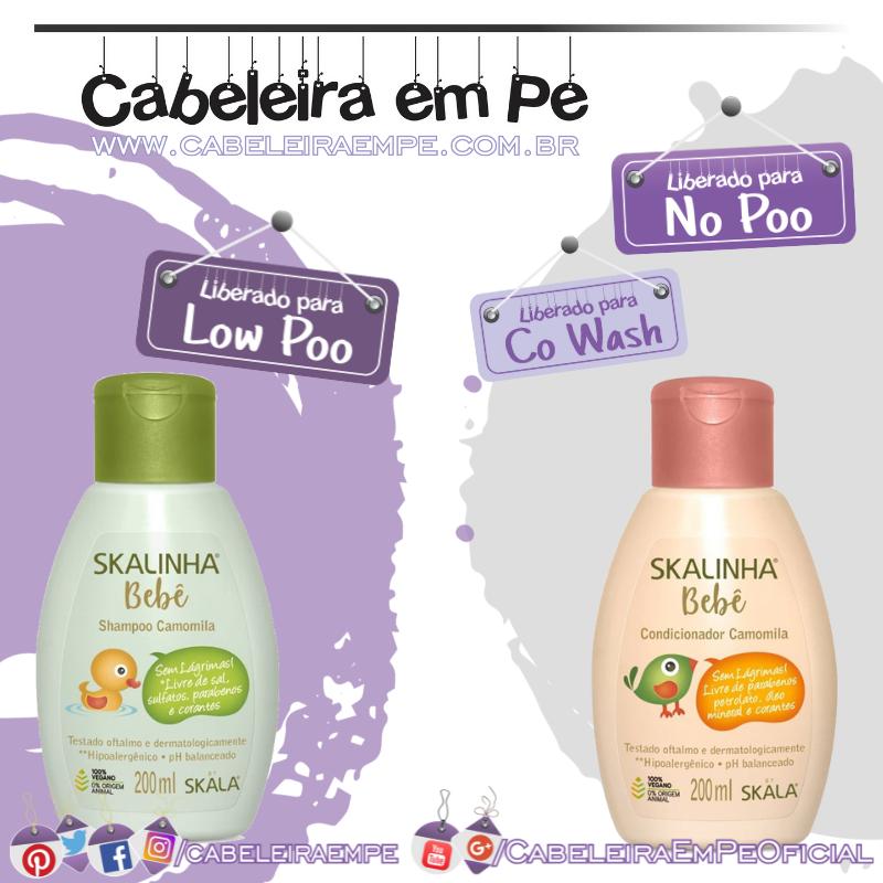 Shampoo (Low Poo) e Condicionador (No Poo) Camomila Skalinha Bebê - Skala