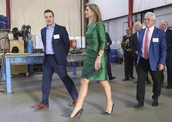 Queen Maxima wore Natan dress and pumps at The Small and Medium-sized Enterprises, 2017 Entrepreneur Day