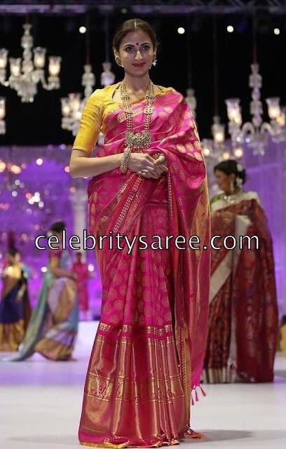 Shilpa Reddy Kanchipattu Saree