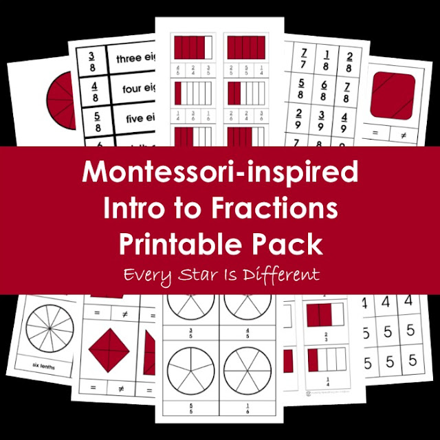 Montessori-inspired Intro to Fractions Printable Pack