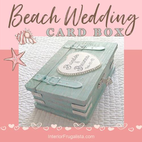 Wedding Card Box For A Beach Destination Wedding