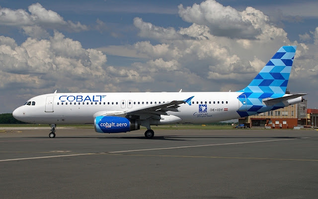cobalt air airbus a320-200 new livery