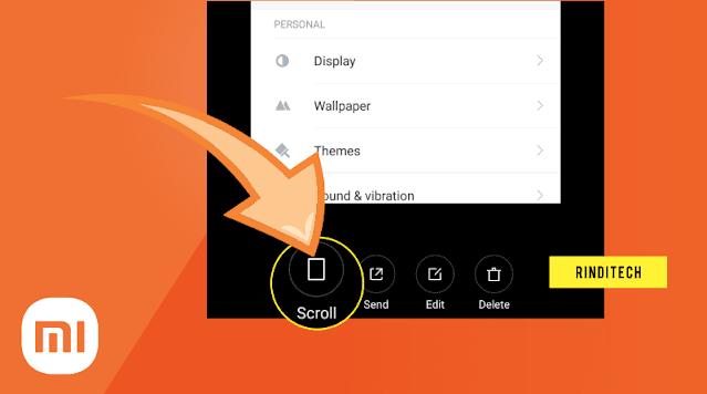Cara Long (full) screenshot di Smartphone Xiaomi