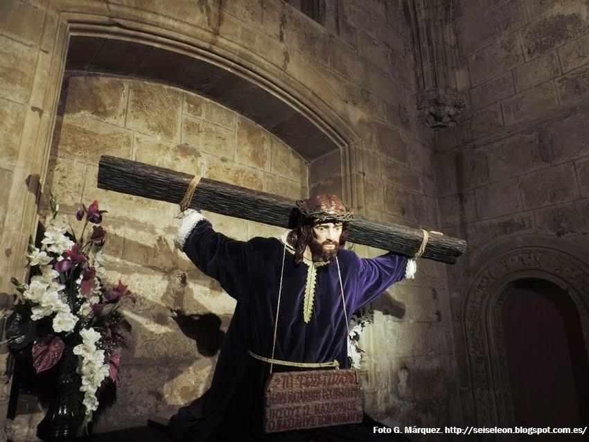 Jesús del Vía Crucis. Cofradía Agonía de Nuestro Señor. León. Foto G. Márquez.