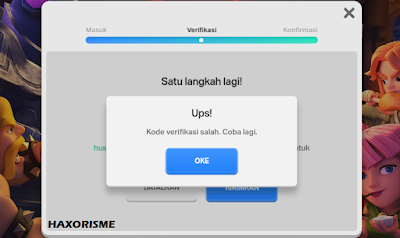 Gagal Login Supercell ID