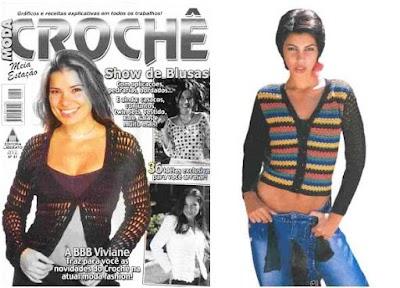 Crochet moda femenina patrones.Revista