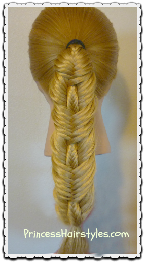 Stitched fishtail braid video tutorial