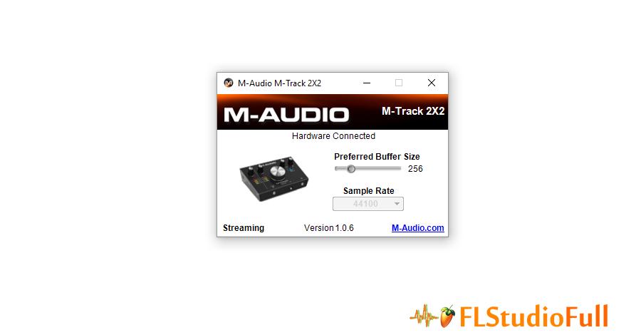 Painel de Controle da Interface de Áudio M-Audio M-Track 2x2