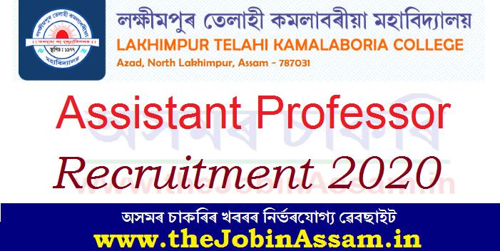 L.T. K. College, Lakhimpur Recruitment 2020