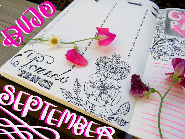 september 2019 bullet journal set up
