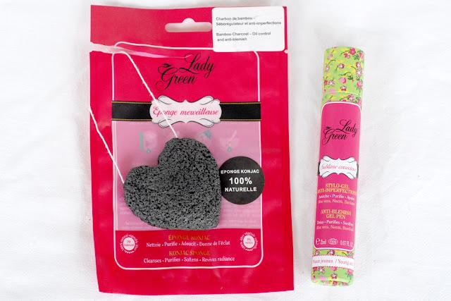 Toute de rose poudrée - lady green bio sublime stylo boutons