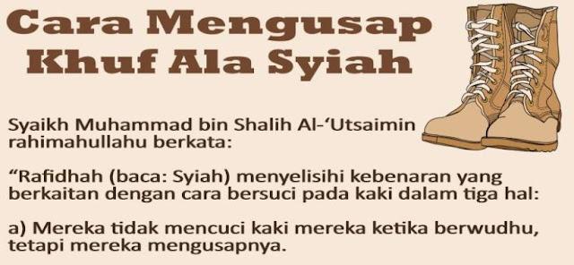 Syiah Mengingkari Syariat Mengusap Khuf