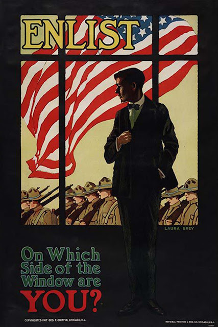 Enlist / On Which Side of the Window Are You?, 1917, Laura Brey.