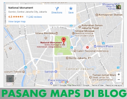 Cara memasang Peta Google Maps di website Blog Tampilan Hidup dan responsive