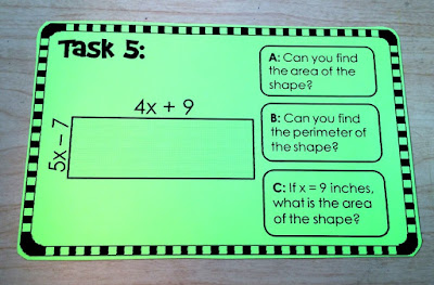 multiplying polynomials task card activity