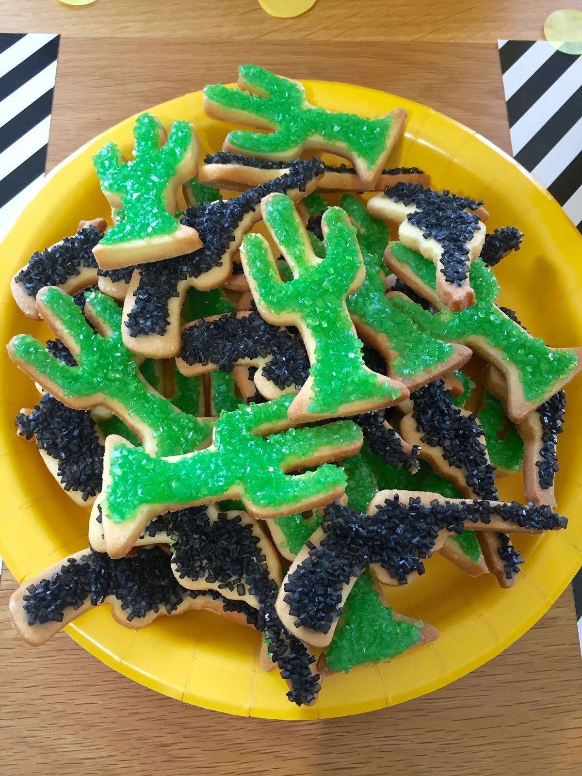 Biscuits en forme de cactus