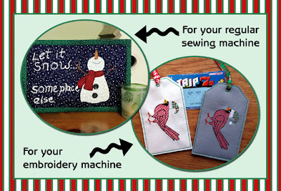 FREEBIE WEEKEND - Lottery Scratch Off Holder & Snowman Mug Rug Pattern