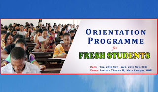 OOU 2017/2018 Orientation Programme for Fresh Students Schedule