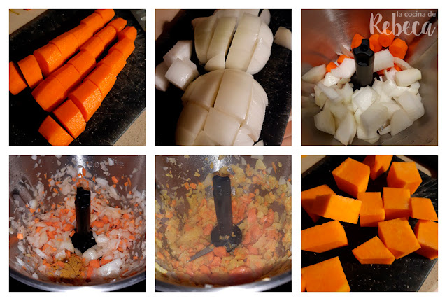 Pumpkin and carrot curry cream recipe 01