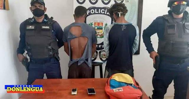 Malandros de una misión del Régimen detenidos por robar dos celulares en Tucacas
