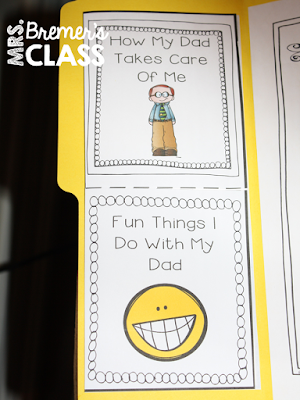 Father's Day Lapbook: These lapbooks are a fun way for students to show some love for their dads on Father's Day! #fathersday #lapbooks #kindergarten #1stgrade #2ndgrade