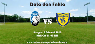 Data dan Fakta Liga Fantasia Serie A Gio 23 Atalanta vs Chievo Verona Fantasi Manager Indonesia