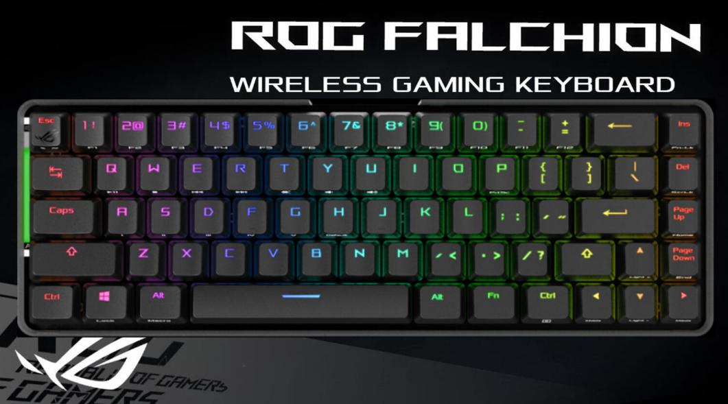 تكشف ASUS عن لوحة المفاتيح الميكانيكيه ROG Falchion RGB