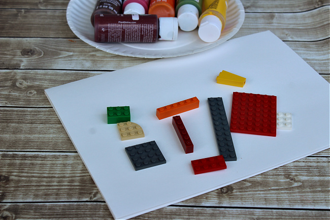 LEGO-stamped apple tree activity supplies