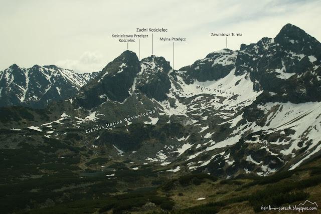 Widok na Zadni Kościelec