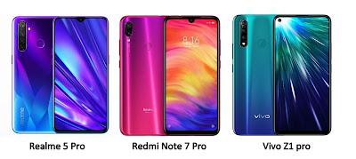 Realme 5 Pro vs Redmi Note 7 Pro vs Vivo Z1 Pro