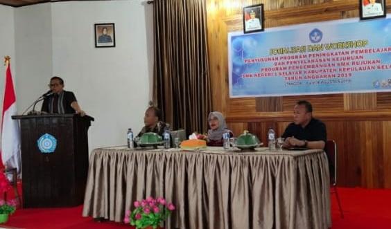 SMK 1 Selayar Gelar Workshop, Peningkatan Pembelajaran dan Penyelarasan Kejuruan