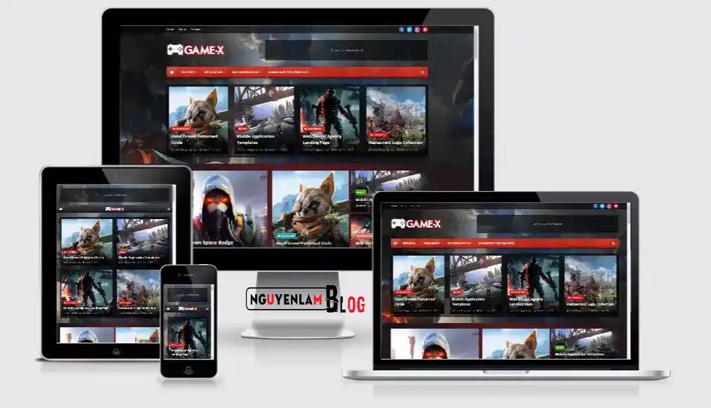 Nguyễn Lâm Blog | Game X Premium Version Blogger Template