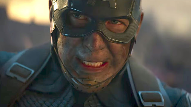 captain america grimacing