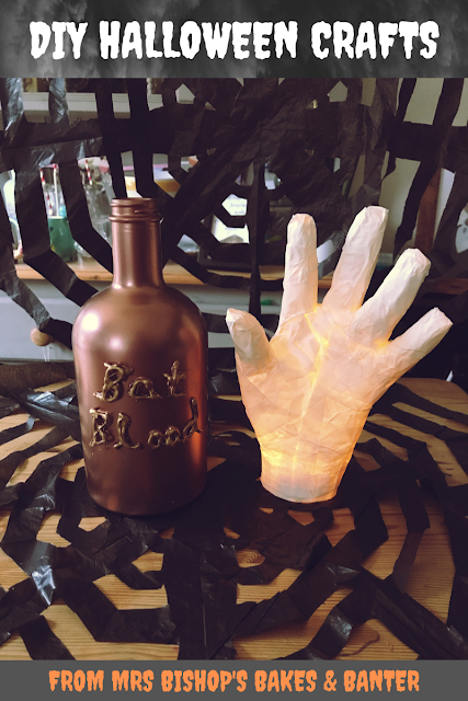 DIY Halloween crafts from Mrs Bishop's Bakes and Banter blog