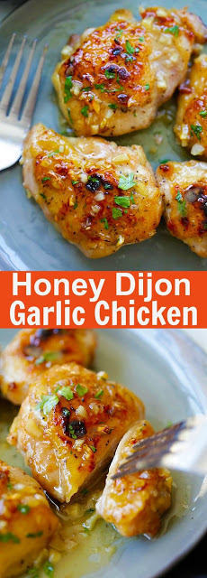 Honey Dijon Garlic Chicken Recipe
