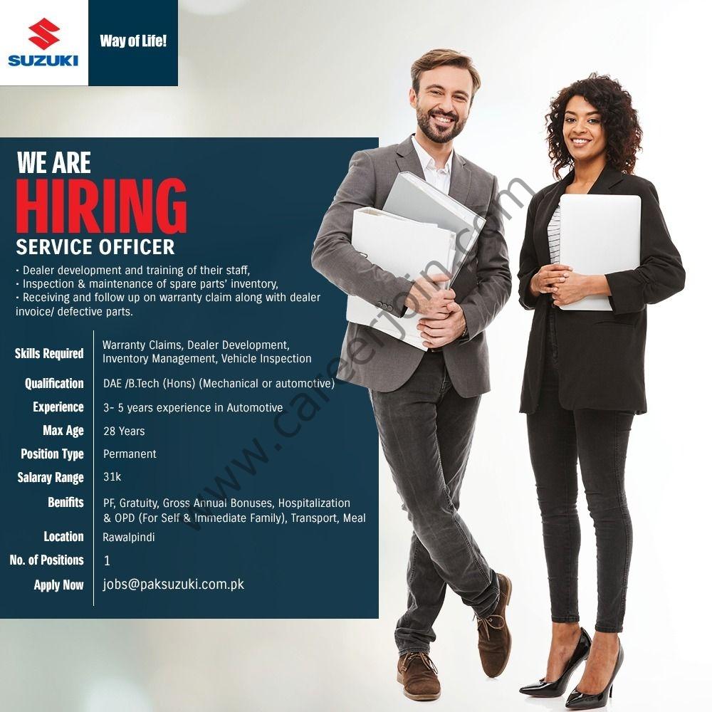 jobs@paksuzuki.com.pk - Pak Suzuki Motor Company Ltd Jobs 2021 in Pakistan