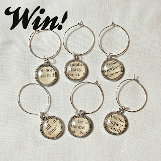image giveaway domum vindemia wine glass charm set literature music handmade