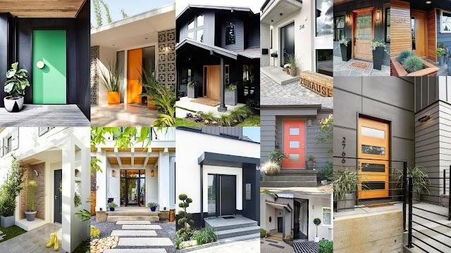 Μοντέρνες διαμορφώσεις για  την εξωτερική είσοδο του σπιτιού