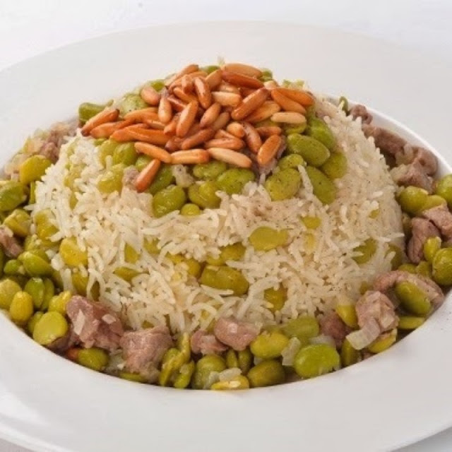 Fava beans and Rice (Rez bel fool)