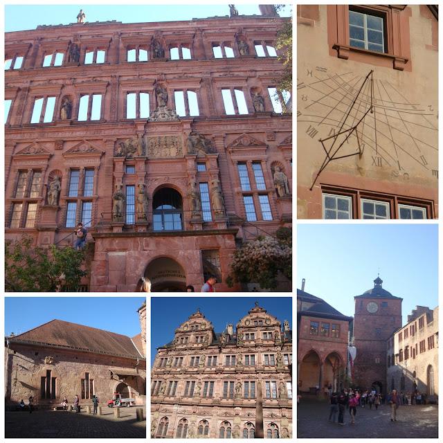 detalhes do Castelo de Heidelberg