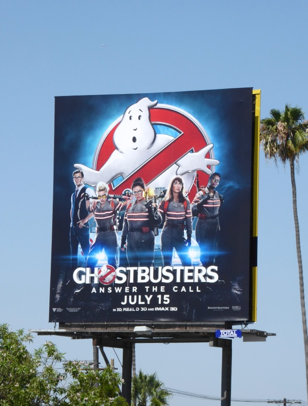 Ghostbusters Answer the call billboard