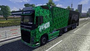 Volvo Green skin + trailer