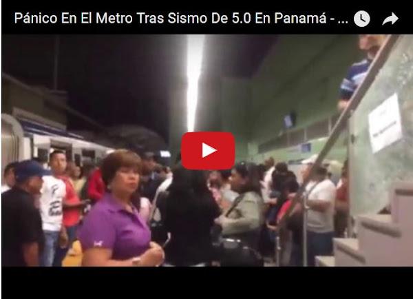 Sismo de mediana potencia sacude a Panamá