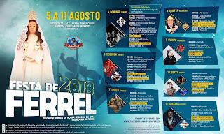 Programa Festas de Ferrel 2018