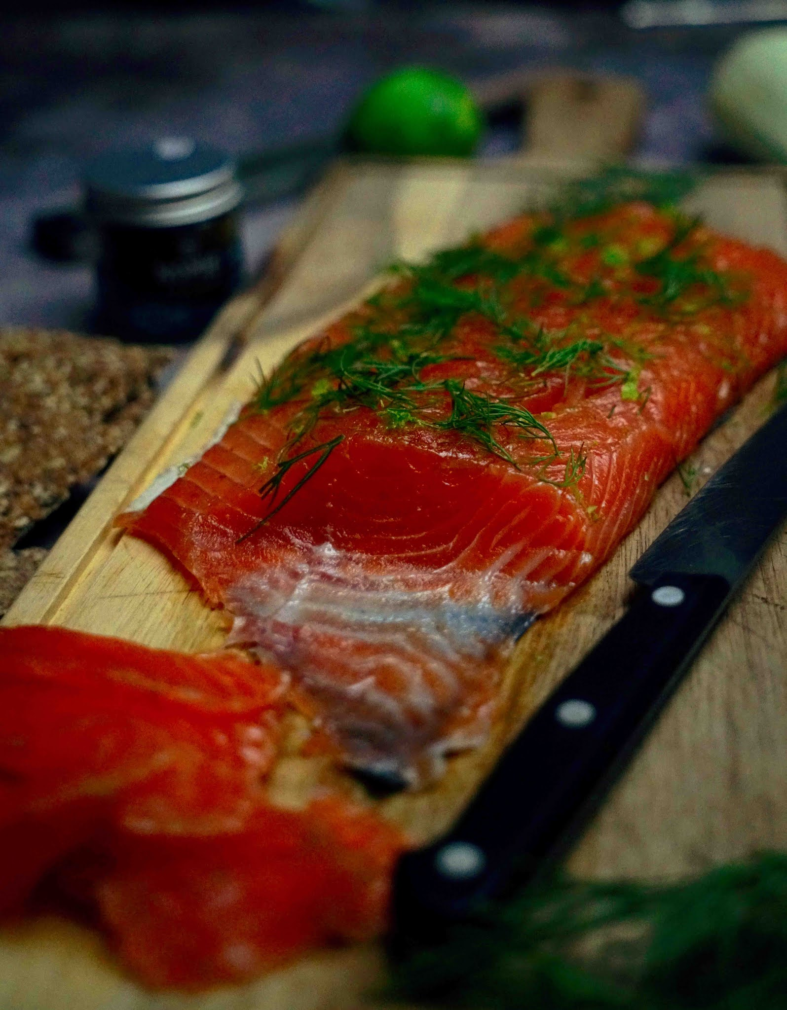 saumon mariné , gravlax, cuisine healthy